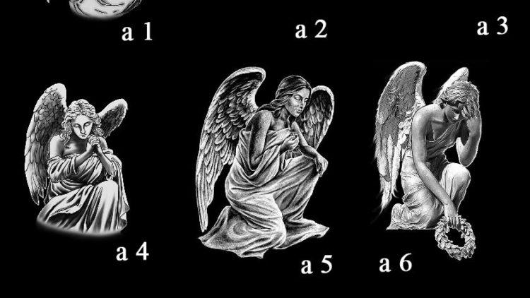 Гравировка ангелов на памятниках