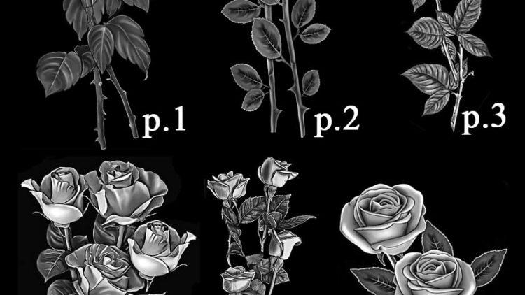 Гравировка на памятниках розы